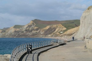 West Bay promende towards Eype